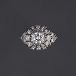 Bague diamant forme boule