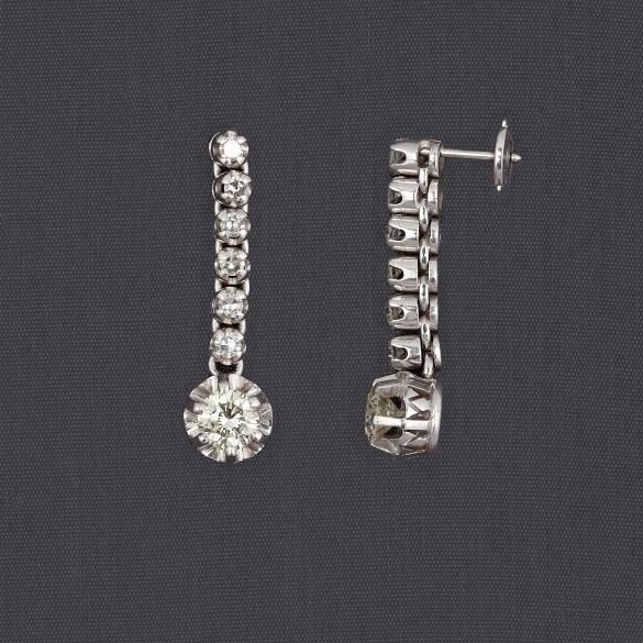 Pendants d'oreilles diamants
