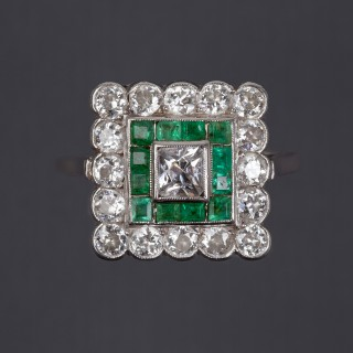 Bague marguerite diamant