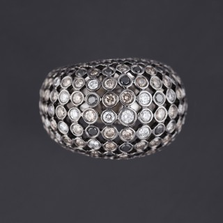 Grosse Bague boule diamants