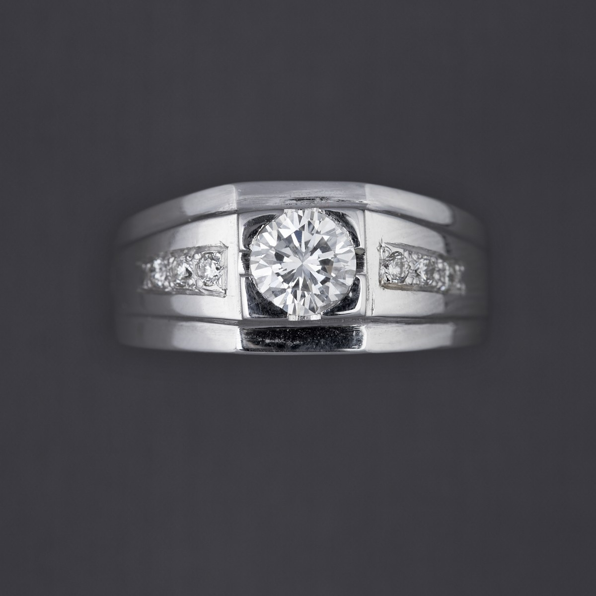 bague diamant central
